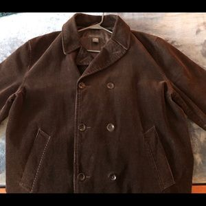 Banana Republic Peacoat chocolate brown corduroy